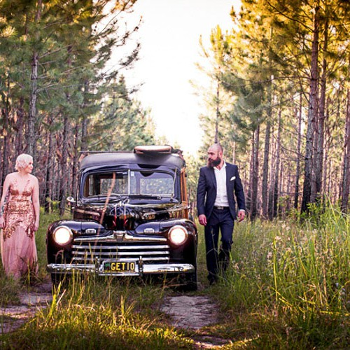 Noosa Woody Wedding Car Hire - photos by Noosa Wedding Photography