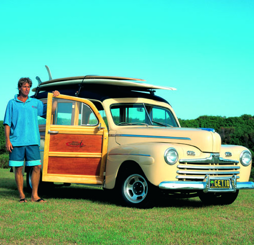 Classic 1946 Ford Woody Car Hire Noosa Heads