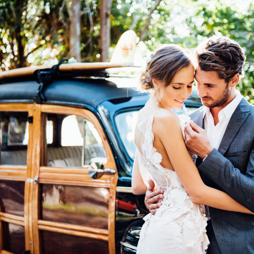 Styled wedding shoot with the Noosa Woody