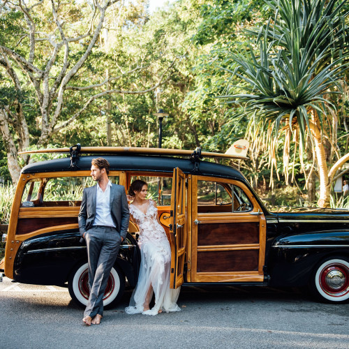 Shot 2 of couple in the Noosa Woody