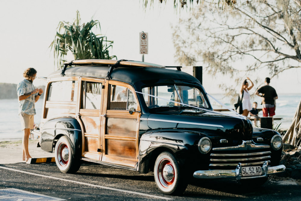 Vintage Wedding Car Sunshine Coast | Noosa Woody Hire